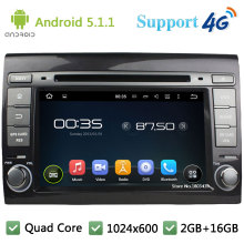 Quad Core 1024*600 Android 5.1.1 Car DVD Player Radio Screen PC Stereo BT FM USB DAB 3G/4G WIFI GPS Map For Fiat Bravo 2007-2014(China)