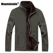 Mountainskin 6XL New Mens Softshell Fleece Casual Jackets Men Warm Sweatshirt Thermal Coats Solid Thickened Brand Clothing SA041