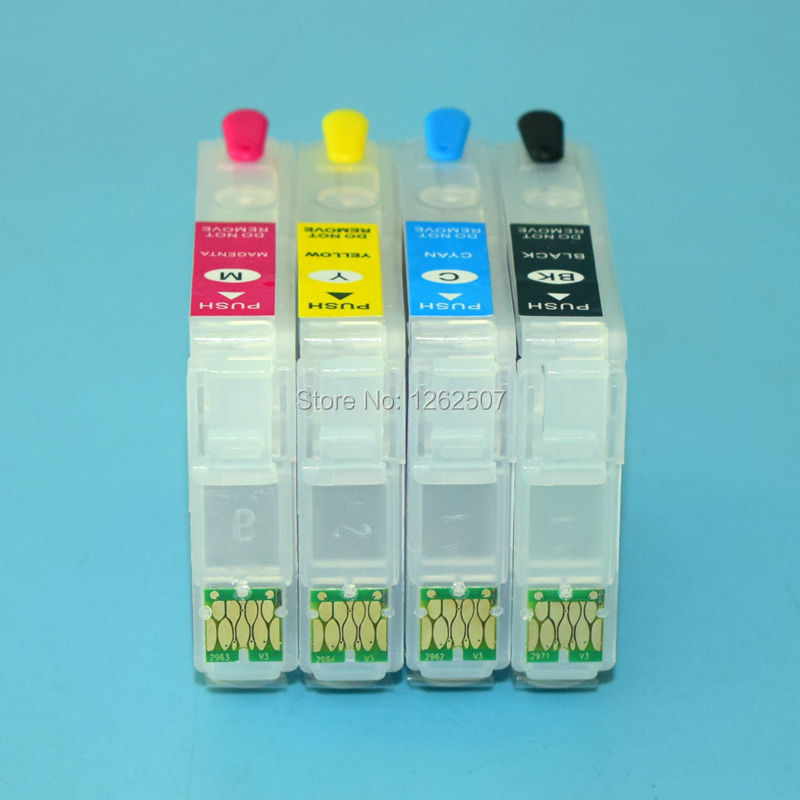 For Epson T2991-T2994 Refillable ink cartridge with one time used chip For Epson xp-247 xp-445 xp-442 xp-345 xp-342<br><br>Aliexpress
