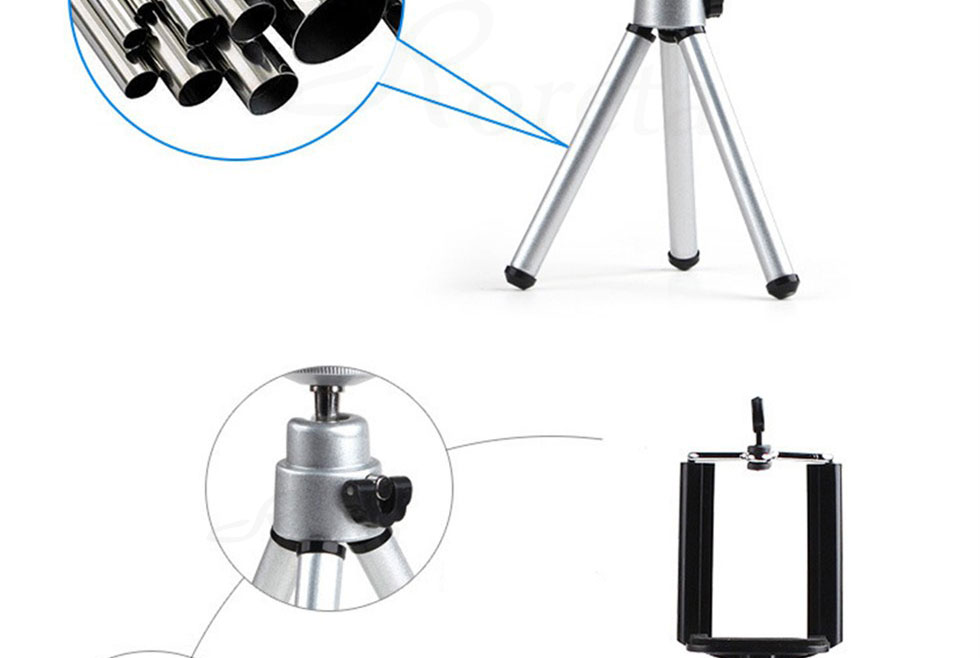 Roreta Mobile Phone mini tripod Stand Bluetooth Remote monopod tripods For mini Digital Camera tripod Phone Desktop Holder