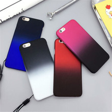 New Gradual Change Gradient Colorful Case Slim Frosted Protector Capa Coque Phone Case Cover For iPhone 6 6S Plus 6SPlus 5.5