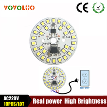 10PCS/LOT SMD 2835 LED Lamp Chip light Smart IC Power 220V 5W 7W 9W 12W 15W Led lamps For indoor FloodLight White / Warm White(China)