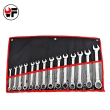 Russia Warehouse 14pcs Ratchet Wrench set wrench Tool for car repair tool set ratchet tool car wrench for metalworking spanner(China)