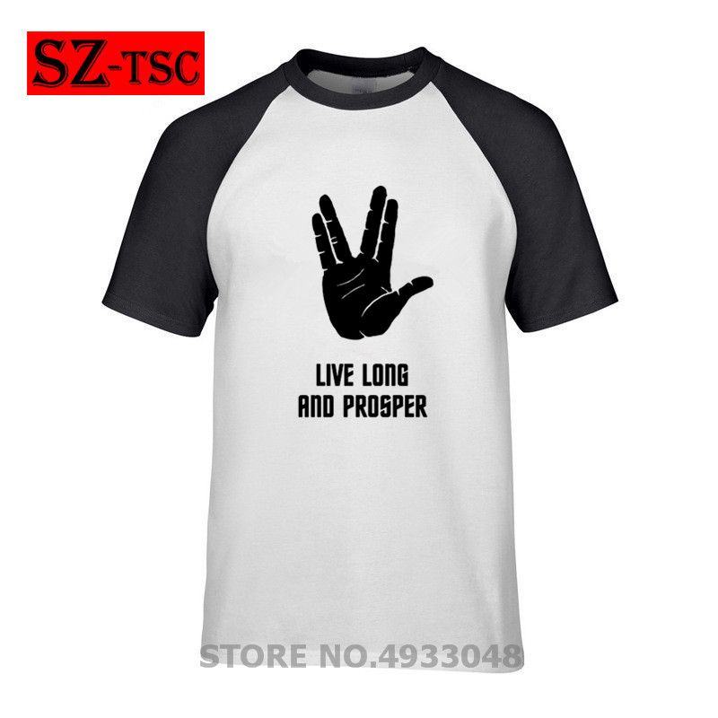 Trekkie Hand Mens T Shirt Star Trek Next Generation Spoc Kirk Vulcan