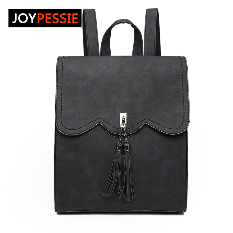 Joypessie Female PU Leather Womens Backpacks New Women Backpack Tassel Girls Bags Retro Lady Hot School Bags<br><br>Aliexpress