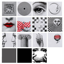 Creative European transparent tile sticker fornasetti design square waterproof bathroom/kitchen wall decorative glass/tile decor(China)