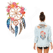 2017 NEW Indians style feather Patches For Clothing  26*15.4cm DIY T-shirt  jacket Grade-A Thermal transfer stickers