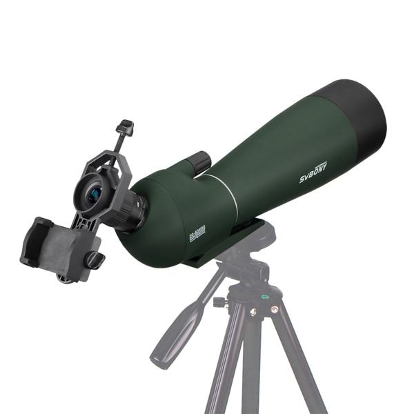 SVBONY Spotting Scope BAK4 Angled 20-60x80mm Zoom w Tripod Soft Case (1)