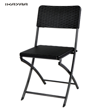 iKayaa DE Stock 2Pcs Patio Folding Chair Outdoor Dining Garden Party Beach Camping Stool Patio Outdoor Furniture 2pcs/set Chairs