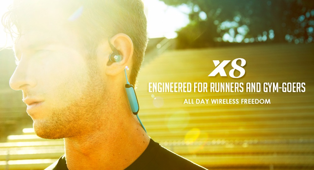 Original MEE X8 Wireless Bluetooth Sports Headphones Secure-Fit Dynamic Bass Stereo In-Ear Headset Earphones With Mic For Iphone