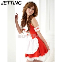 Buy JETTING lovely Female Maid classical Lace sexy miniskirt Sexy lingerie sexy underwear lolita maid outfit sexy cosplay costume