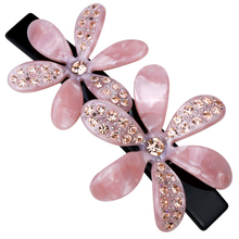Flower hair barrette clip for women girls austrian crystal jewelry wedding accessories HB10 wholesale dropship(China)
