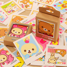 E36 40pcs Cute Kawaii Mini Rilakkuma Lomo DIY Postcard Post Greeting Card Picture Decor Message Leave Cards(China)