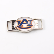 Auburn Tigers College NCAA Team Logo Oval Shoelace Charms For Sport Shoes And Paracord Bracelets Jewelry Decoration 6pcs(China)