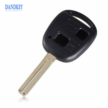 Dandkey Replacement Housing Shell Remote Key Case Fob 2 Button For Lexus Uncut Blade TOY40 40MM(China)