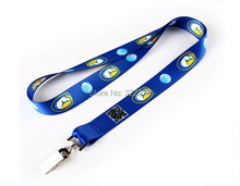 wholesale retail cheap Neck Strap polyester lanyard alligator clip strap Badge ID Pass Card Holder customized logo printing