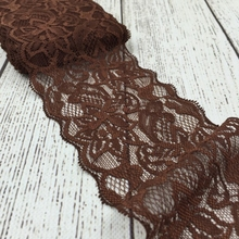 "3"" 10yards Brown Elastic Lace Trim For Hair Accessories Lace Ribbon By The Yard For Girls Headband Wholesale Craft DIY Headbands"