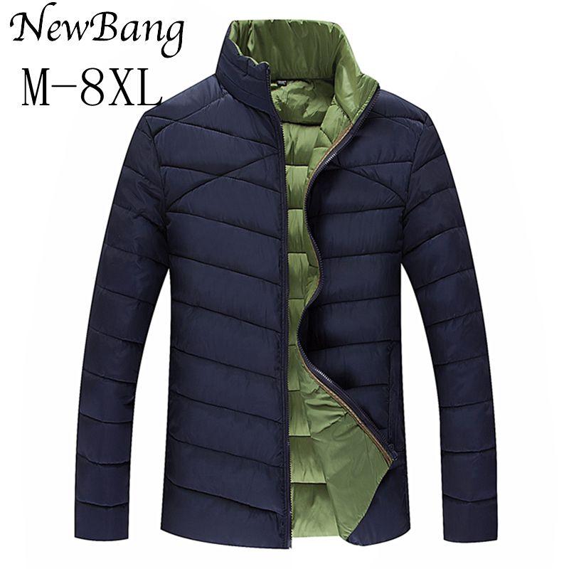 Plus 6XL 7XL 8XL Parka For Men Extra Large Size Cotton Coats Thick Warm Stand Collar Casual Jacket Three Colors Îäåæäà è àêñåññóàðû<br><br>