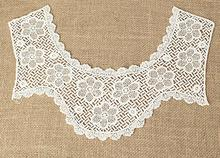 Fashion cotton Lace Collar Fabric Trim ribbon tassel DIY crochet flowers Neckline Applique crafts material Sewing guipure decor