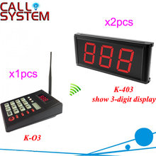 Fast Food Restaurant Queue waiting call system 2 number screen with 1 keyboard show 001-999