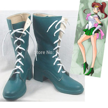 Free Shipping Anime Sailor Moon Crystal Cosplay Costume Shoes Sailor Jupiter Lace Up Boots Custom New