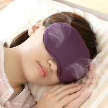 Long lasting Herbal Lavender Steam Compress Eye Mask with USB Warming Adjustable Temperature and Timing for Sleep or Comfort