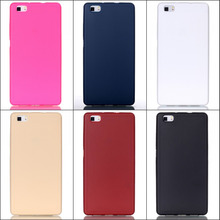 New Arrival Fashion Candy Colors Jelly Soft TPU Silicone Shockproof Case For Huawei P8 Lite Case Cover