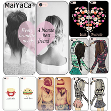 MaiYaCa Best Friends Emoji Shell Phone Case for Apple iPhone 7 7 Plus 6 6S 8 Plus X 5 5S SE 4S Cover(China)