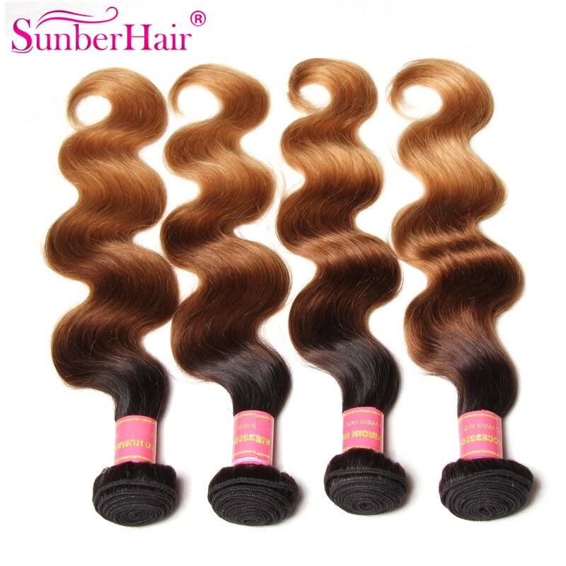Brazillian Body Wave Ombre Hair Extensions 100% Ombre Human Hair Weave Top 7A Ombre Brazilian Hair Body Wave Bundles T1B/4/27<br><br>Aliexpress