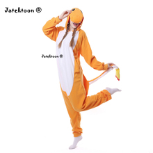 Anime Orange Fire Dragon Charmander Adult Onesie One Piece Pokemon Cosplay Pajamas pijama animal carnival costumes Plus Size XL
