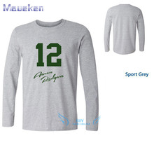 New 100% Cotton green bay Aaron Rodgers shadow 12 T-shirt funny fans T Shirt 0116-3(China)