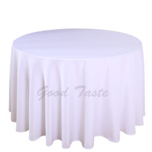 "10PCS/Lot  132"" Round  Table Cloth for Wedding Polyester Rectangular Table Cover Machine Washable Tablecloth for Hotel Table"