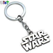 Game STARWARS Letter Logo Keychain Movie Men Jewelry Alloy Pendant Metal Star Wars Keyring Key Chains Charms Souvenirs Fans Gift(China)