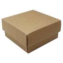 10Pcs/ Lot DIY Party Gift Brown Kraft Paper Package Box With Lid 9*9+4.5cm Thick Retro Craft Paper Cardboard Packing Boxes
