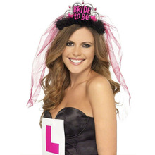 new arrival party decorations bachelorette girls night hen do fancy dress bride to be crown the Headwear veil