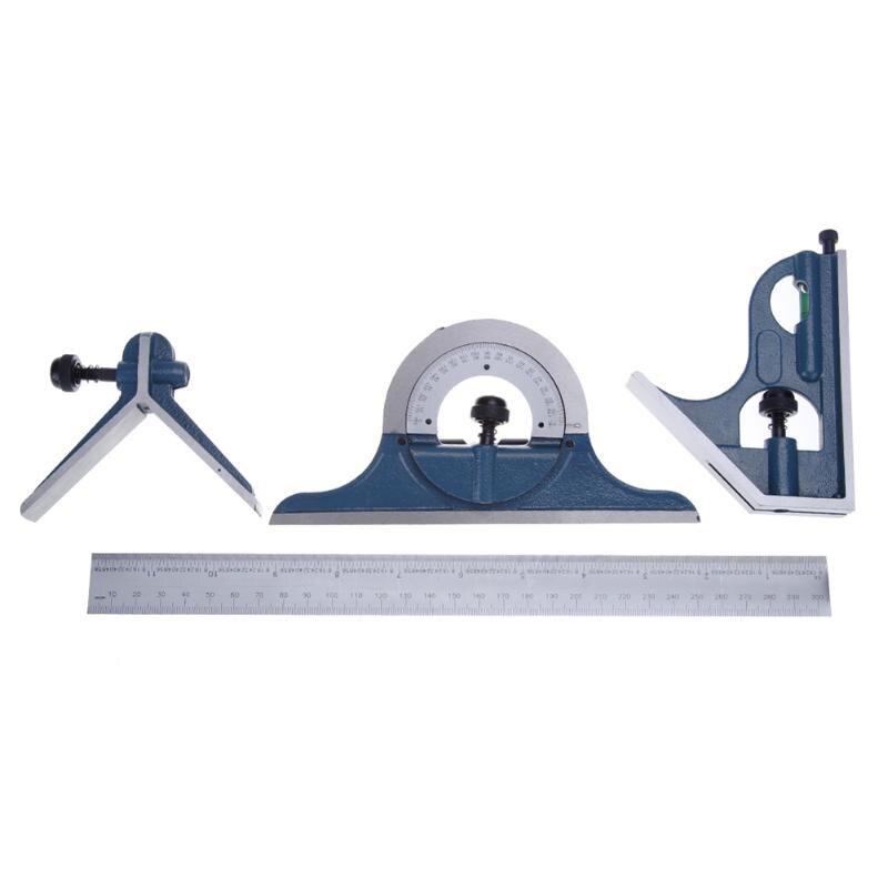 Universal Ruler Set Combination Square Protractor esquadro Right Angle Combination Square Protractor Ruler Set Measuring Tools<br>