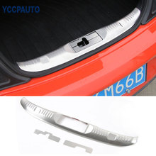 car styling Rear Trunk Step Entry Guards Cargo Door Sill Cover Anti Scratching Stainless For Ford Mustang 2015 Up