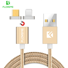 FLOVEME Magnetic USB Cable For iPhone 6 7 Plus For iPad Air Mini Fast Magnet Charger Micro USB Cable For Samsung Huawei Android