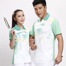 2017 New Men Sports Wicking Breathable Clothing Tennis Shirts Men's Badminton Table Tennis Polo Shirt free shipping
