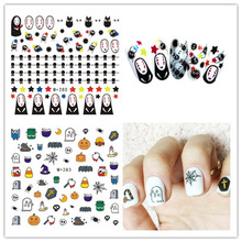 100pcs/lot Free Shipping M+278-285 Halloween Nail Sticker