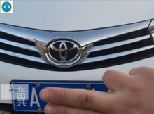 New! For Toyota Corolla 2014 Chrome Front Grill Emblem Cover Trims 1 pcs(China)