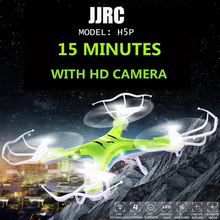 JJRC Model H5P 2MP HD 4CH 2.4G 6-Axis Gyro Headless Mode RC Quadcopter Drone With LED Night Lights Rc Copter Toy