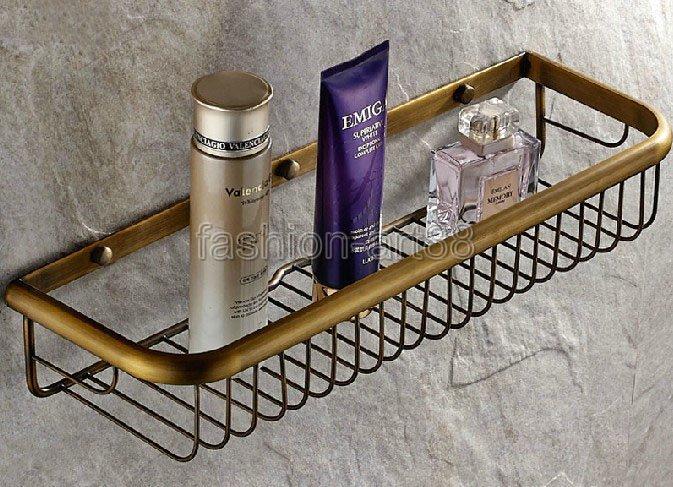 17.7 ( 450 mm ) Vintage Retro Antique Brass Wall Mounted Bathroom Accessory Bath Soap / Sponge Shower Storage Basket aba031<br><br>Aliexpress