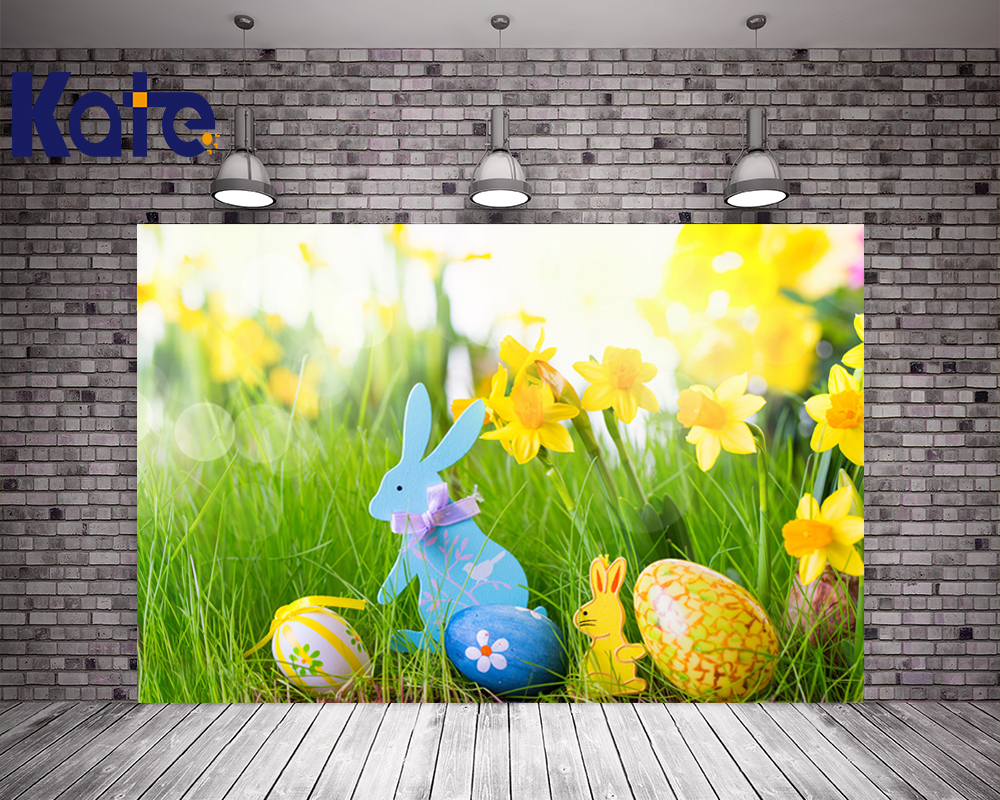 3M*3M(10*10Ft) Easter Photography Backdrops Eggs Fairy Grass Fundo Fotografico Newborn Easter Sunday Zj<br>