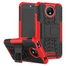 Soft&Plastic Mobile Phone Case For Motorola Moto C Plus Cases 5.0 inch Shockproof Heavy Duty Armor Hard Tough Rubber Cover Funda