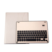 "For iPad Pro 10.5"" 2017 Backlight Bluetooth Aluminum Keyboard+Leather Stand Case A8"