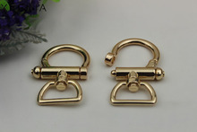 6pcs/lot Shoulder bag hook clasp act the role ofing is tasted pale golden handbags hardware accessories connect button