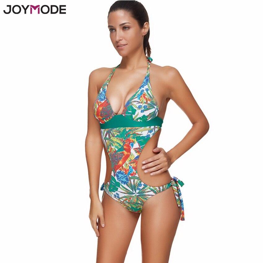 JOYMODE Swimsuit Women One Piece Bathing Suit Halter Neck Push Up Cut Out Women Swimwear Swimsuit Plus Size Swim Beach Wear<br>