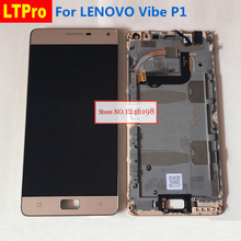 Buy LTPro Top LCD Display Touch Screen Digitizer Glass Panel Assembly Frame Lenovo Vibe P1 1920x1080 Phone Parts for $35.19 in AliExpress store