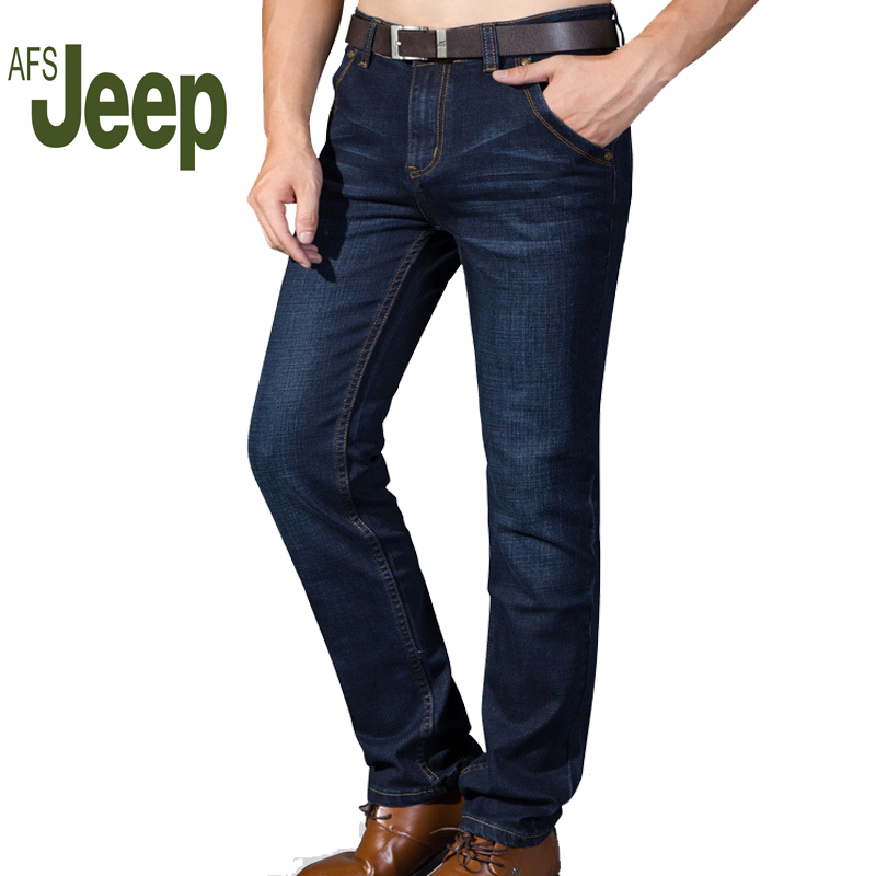 AFS JEEP 2017 new autumn and winter business jeans elastic mens casual comfortable jeans fashion mens Slim jeans 64Одежда и ак�е��уары<br><br><br>Aliexpress